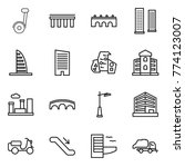 thin line icon set   segway ... | Shutterstock .eps vector #774123007