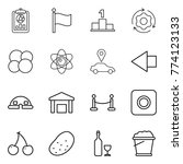 thin line icon set   report ... | Shutterstock .eps vector #774123133