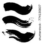 grunge dirty brush strokes... | Shutterstock .eps vector #774130837