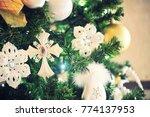 christmas ornament ball... | Shutterstock . vector #774137953
