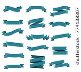 blue ribbon set  | Shutterstock . vector #774138307