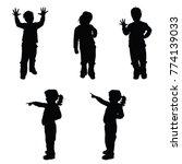 child silhouette in variouse...   Shutterstock .eps vector #774139033