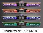 scoreboard digital screen... | Shutterstock .eps vector #774139207