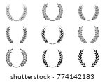 black laurel wreath   a symbol...   Shutterstock .eps vector #774142183