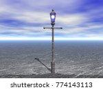 streetlamp 3d rendering | Shutterstock . vector #774143113