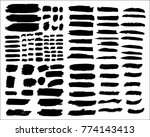 collection of hand drawn grunge ... | Shutterstock .eps vector #774143413