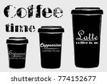 coffee to go. latte  cappuccino ... | Shutterstock .eps vector #774152677