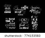 text about coffee. white on... | Shutterstock .eps vector #774153583