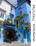 traditional moroccan courtyard... | Shutterstock . vector #774171763