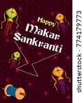colorful kite flying for happy... | Shutterstock .eps vector #774179773