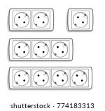 europe outlets vector set.... | Shutterstock .eps vector #774183313