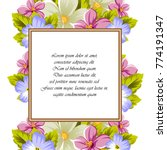 frame of a few flowers. for... | Shutterstock .eps vector #774191347