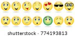 emoji icon set | Shutterstock .eps vector #774193813