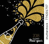 happy new year 2018 greeting...   Shutterstock .eps vector #774201757