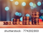 money savings concept with coin ... | Shutterstock . vector #774202303