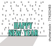 happy new year vector... | Shutterstock .eps vector #774202483