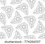 simple doodle flowers floral... | Shutterstock .eps vector #774206557