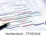 project plan gantt charts with... | Shutterstock . vector #77421616