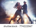 skillful dancers performing in... | Shutterstock . vector #774222067
