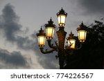 streetlamp at sunset time. | Shutterstock . vector #774226567