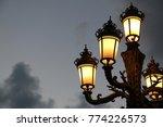 streetlamp at sunset time. | Shutterstock . vector #774226573
