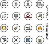 line vector icon set   airport...   Shutterstock .eps vector #774229693