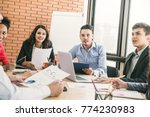 group of male and female...   Shutterstock . vector #774230983