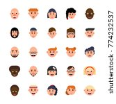 set of avatars characters in... | Shutterstock . vector #774232537