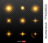 shining star  the sun particles ... | Shutterstock .eps vector #774233023