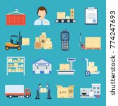 warehouse and logistic set.... | Shutterstock .eps vector #774247693