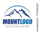 mountain and climbing logo... | Shutterstock .eps vector #774252223