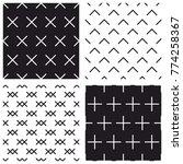 tile black and white vector...   Shutterstock .eps vector #774258367