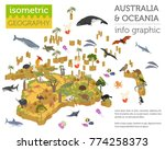 isometric 3d australia and... | Shutterstock .eps vector #774258373