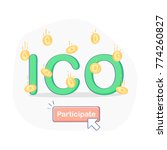 ico initial coin offering...   Shutterstock .eps vector #774260827