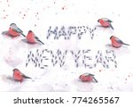 new year greeting card with... | Shutterstock . vector #774265567