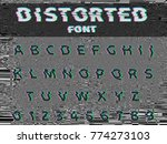 Vector Distorted Glitch Font....