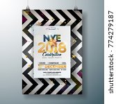 2018 new year party celebration ... | Shutterstock .eps vector #774279187