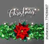 christmas party invitation... | Shutterstock .eps vector #774286807