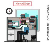 deadline  flat business man... | Shutterstock .eps vector #774289333