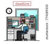 deadline  flat business man... | Shutterstock .eps vector #774289333