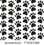 paw print seamless pattern....   Shutterstock .eps vector #774291583
