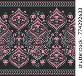 floral seamless pattern.... | Shutterstock .eps vector #774292633