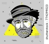 creative modern portrait of... | Shutterstock .eps vector #774299023