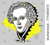 creative modern portrait of...   Shutterstock .eps vector #774300373