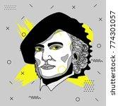creative modern portrait of...   Shutterstock .eps vector #774301057