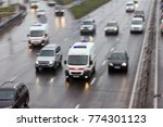 ambulance in the city on a... | Shutterstock . vector #774301123