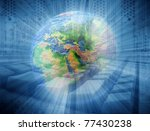 abstract internet background   Shutterstock . vector #77430238