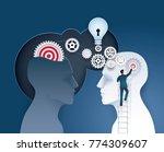 businessman climbing ladder to...   Shutterstock .eps vector #774309607