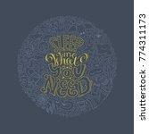 sleep it s what you need... | Shutterstock .eps vector #774311173