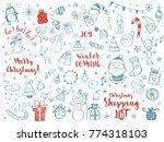 big set of christmas design... | Shutterstock .eps vector #774318103